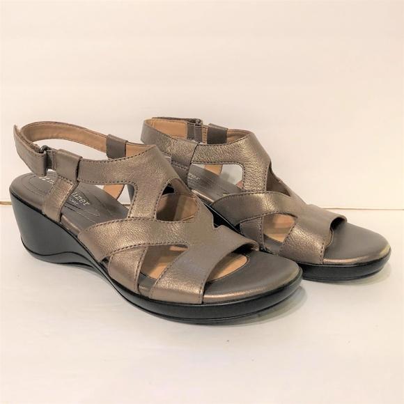 2bb791742c naturalizer Shoes | N5 Comfort Strappy Wedge Sandal Bronze | Poshmark